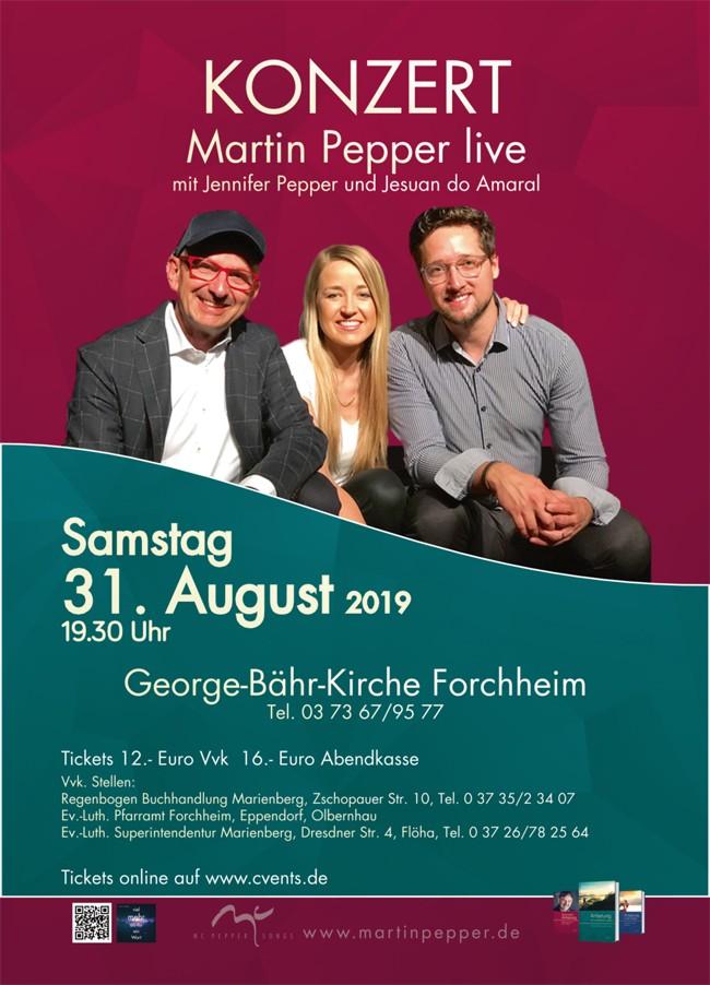 Martin Pepper live mit Jennifer & Jesuan
