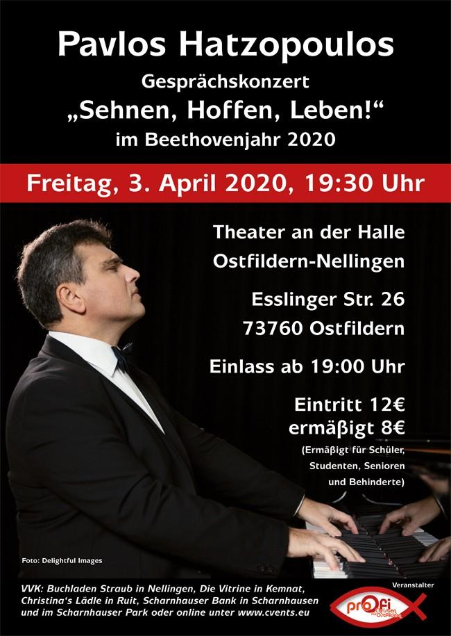 """Gesprächskonzert """"Sehnen, Hoffen, Leben!"""" im Beethovenjahr 2020"""