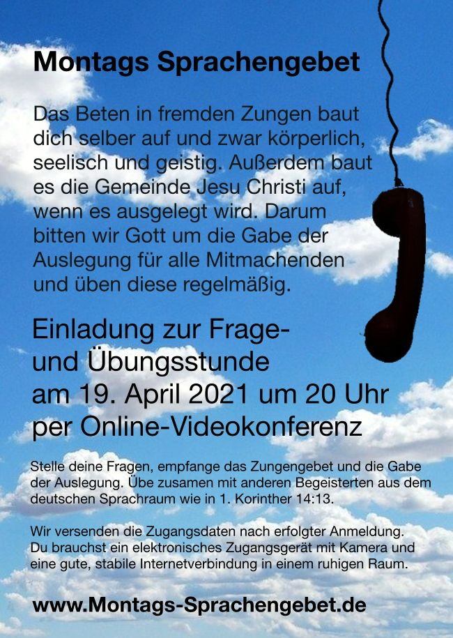 Montags Sprachengebet - ONLINE
